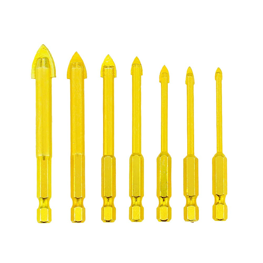 7 Piece Masonry Drill Popular product Bits Set Shank with OFFicial site Hex Concrete Gol