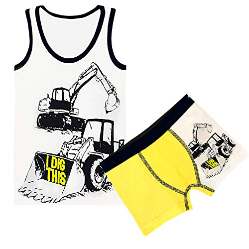 PiriModa Jungen Unterwäsche Set Boxershorts & Unterhemd aus Baumwolle (104-110 (3-4Jahre), Modell 6)