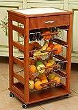 LIBEROSHOPPING.eu - LA TUA CASA IN UN CLICK Carrello Cucina Portafrutta con Cassetto Portaoggetti (Ciliegio)