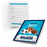 Big Dot of Happiness Go, Fight, Win - Sports - Fill in Baby Shower or Birthday Party Invitations (8 Count)
