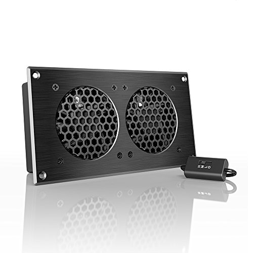 "AC Infinity AIRPLATE S5, Quiet Cooling Fan System 8"" with Speed Control, for Home Theater AV Cabinets"