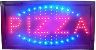 Enseigne lumineuse LED avec inscription «Pizza» 48x 25x 2cm
