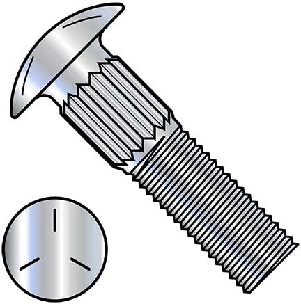 3 8-16X3 Ribbed Neck Free shipping Carriage Bolt 5 Zinc Fully Threaded Grade Large special price