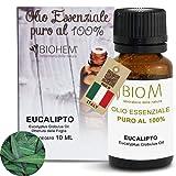 BIOMINTEGRA | Olio Essenziale Eucalipto, Diffusori di Oli Essenziali, Diffusore di aromi Umidificatore, Profumatore di Ambienti, Profumo Auto, anche per scopa a vapore - MADE IN ITALY