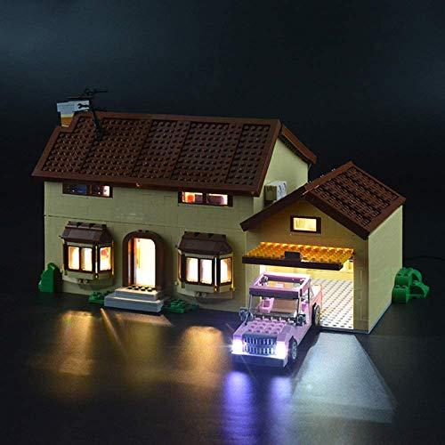 HLEZ USB Juego de Luces de para La casa de los Simpson Modelo de Bloques de Construcción, USB Juego de Luces Compatible con Lego 71006 (Modelo Lego no Incluido)
