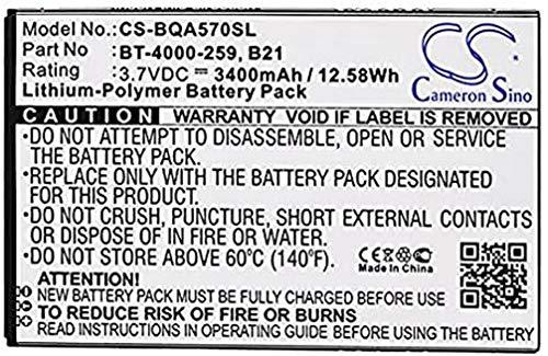 Batería Compatible con BQ Aquaris 5.7 B21, BT-4000-259, polímero de Litio, 3,7 V, 3400 mAh