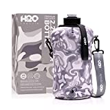 H2O Capsule 2.2L Half Gallon Water Bottle with Insulated Storage Sleeve – Tritan BPA Free Large Water Bottle/2.2 Liter (74 Ounce) Big Sports Bottle Jug with Handle (Green)