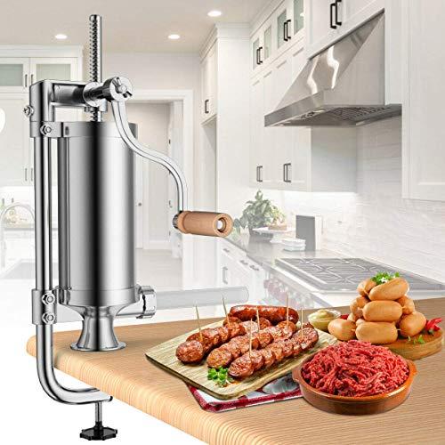 Songlela Machine à Saucisses, Verticale Poussoir à Viande Machine de Remplissage de Saucisses en...