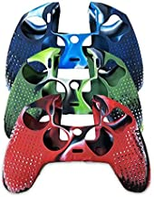 VAKABOX Multi-Color Silicone Case Protective Cover Skin for Playstation 4 PS4 Gamepad Controller - 3 Pack