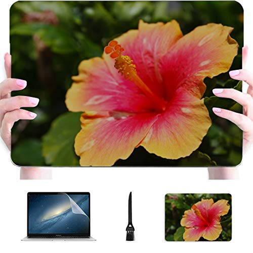 Mac Book Pro Cases Beautiful Hibiscus Flower Plastic Hard Shell Compatible Mac Air 13' Pro 13'/16' 15 Inch Laptop Case Protective Cover for MacBook 2016-2020 Version