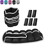 Prodigen Adjustable Ankle Weights Set for Men & Women Ankle Wrist Weight for Walking, Jogging, Gymnastics (Black, 5lbs x2)
