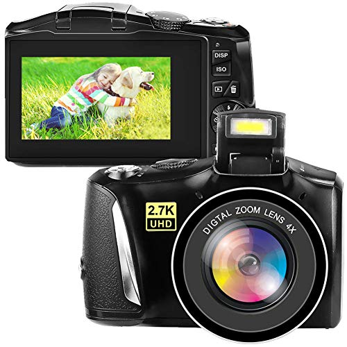 デジタルカメラ デジカメ コンパクトカメラ ビデオブログカメラ 2.7K 48MP フルHD YouTubeカメラ 4倍デジタルズーム 3.0インチスクリーン 初心者向け