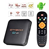 GT MEDIA G3 Alpha 4K Android TV Box 7.1.2, Wi-Fi 2.4/5Ghz, Amlogic S905X Quad-Core 2GB RAM+16GB ROM, 3D / H.265 HEVC / MPEG-4 / BT 4.0, Soporte Netflix Youtube GTPlayer Smart TV Box