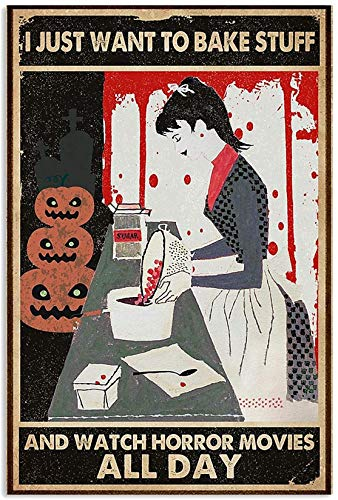 Baking and Horror Movies Halloween Art Canvas 0.75 Inch Print Size 8x12, 12x18, 16x24, 24x36 Inches