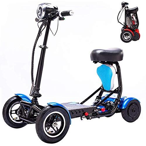 Dp-chair Blaue Elektromobilität Scooter 4 Rad mit Brushless Motor, Klapprollstuhl Haushalt elektrische Allrad Roller,30km
