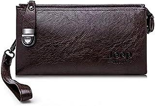 شنطة يد جيب بولو مع قفل أمان تحمل النقود - الفكه ، بطاقات فيزا - بني داكن