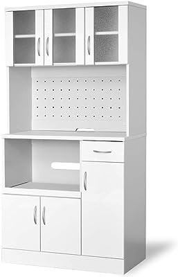 moca company Mirage キッチンボード レンジ台 鏡面 食器棚 スライド 大型レンジ対応 コンセント付き 幅90 ホワイト kc517-wh
