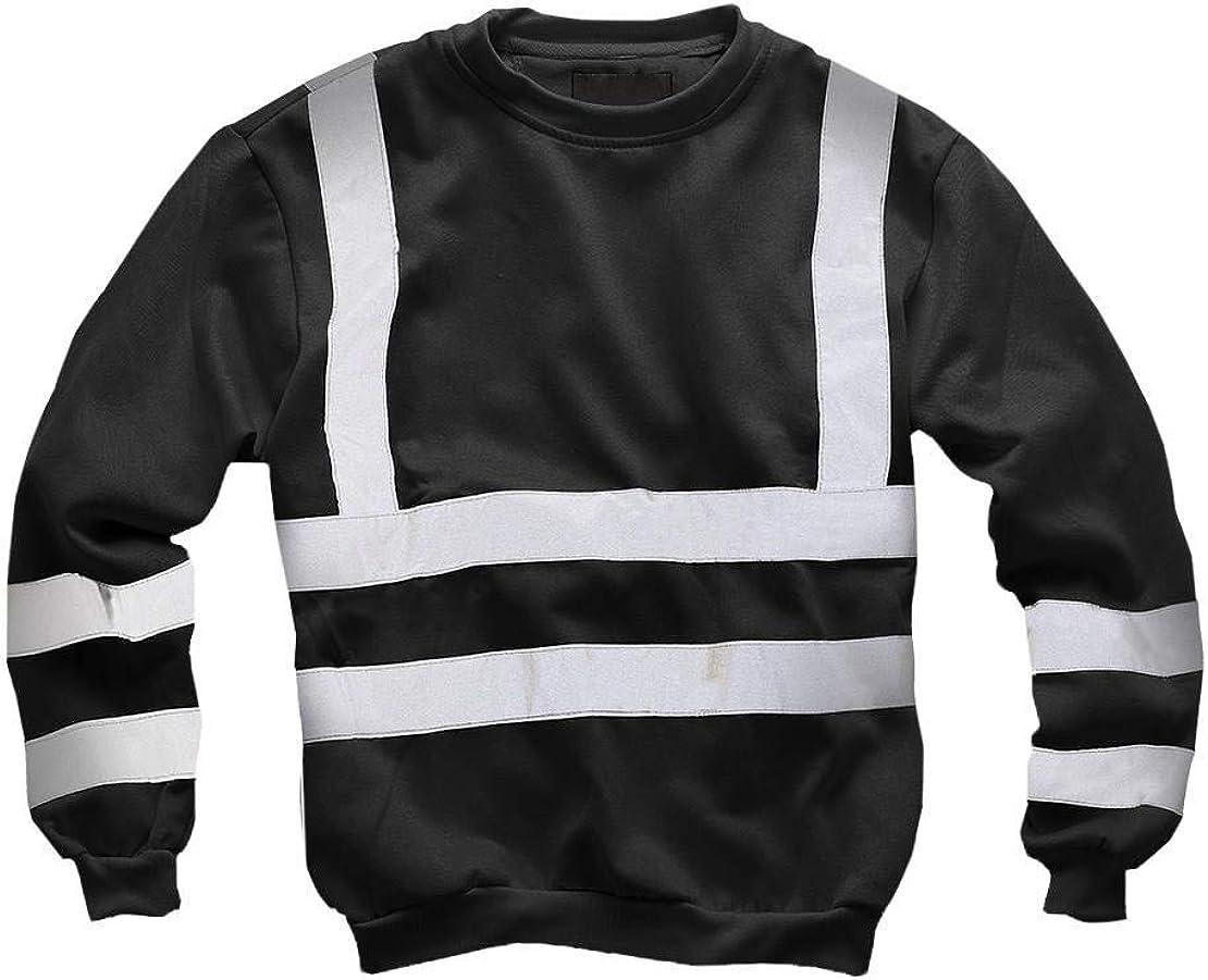 shelikes New Mens Hi Vis Quarter Zip Sweatshirt