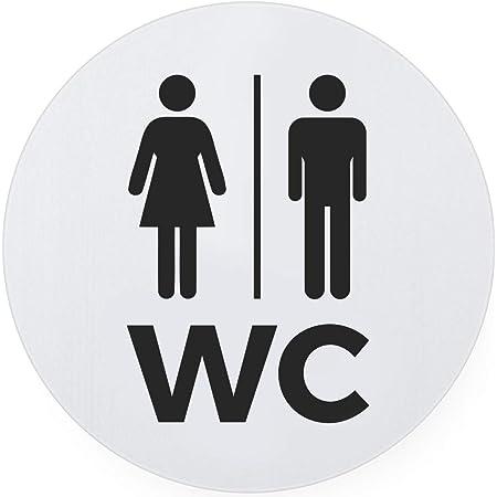 Lavatory Unisex Self adhesive Gender Neutral Toilet Door Sign Loo