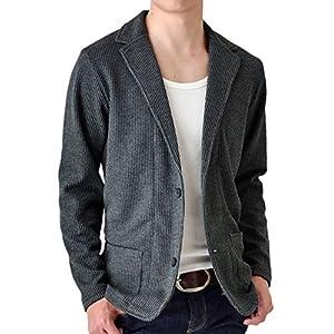 (アローナ) ARONA テーラードジャケット メンズ ジャケット シャドーストライプ/YC B31チャコールレギュラー丈 M