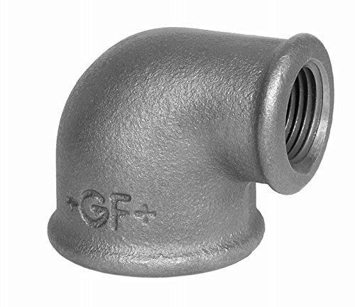 Georg Fischer - Raccordo a compressione + GF+, zincato, N. 90, 2 X 11/4 A1, riduzione, angolo 90° I/I