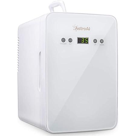 AstroAI 冷蔵庫 小型 ミニ冷蔵庫 小型冷蔵庫 冷温庫 6L 2℃~60℃温度調整可能 化粧品 ポータブル 家庭 車載両用 保温 保冷 2電源式