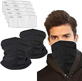 Neck Gaiter face Mask with Filter Cooling Bandana Face Scarf UV Proof for Outdoor
