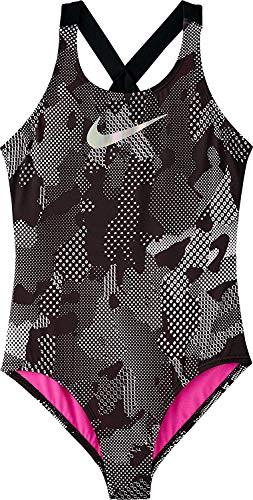 Nike 2019 Maillot de bain 1 pièce pour fille avec camouflage optique, noir -  Multicolore - Taille Unique