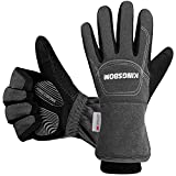 KINGSBOM -40F° Waterproof & Windproof Thermal Gloves - 3M Thinsulate Winter Touch Screen Warm Gloves - for Cycling,Riding,Running,Outdoor Sports - for Women and Men (Grey,Medium)