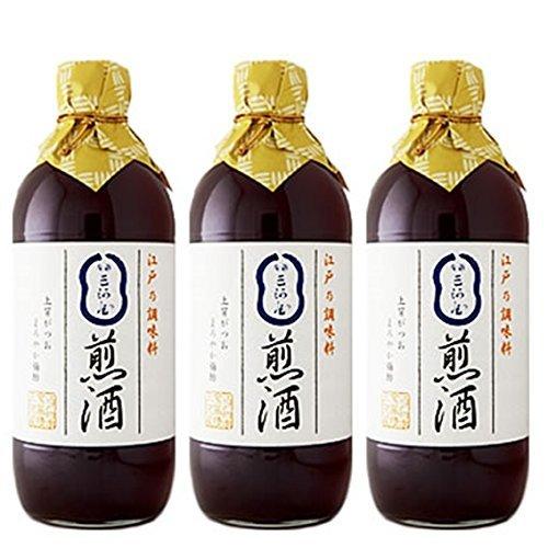 煎酒(いりざけ) 大 600ml×3本 煎り酒 銀座三河屋