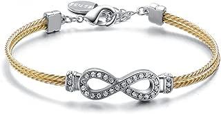 Mestige MSBR3169 Gold Plated Dual Infinity Friendship Bracelet for Women