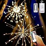 200 Led Luce Stringa, Luci Fatate Natalizie (A Batteria, 8 Modes) Scintillio Starburst Fuochi d'Artificio Luci - Per Al Coperto/All'Aperto (2 Pezzi)