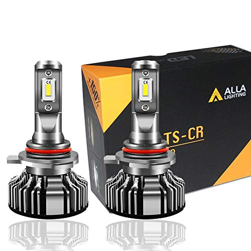 Alla Lighting 10000lm 9012 LED Headlight Bulbs Extremely Super Bright TS-CR LED HIR2 9012 Headlights Conversion Kits 9012 Bulbs, 6000K Xenon White
