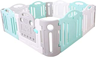 Xuan Yuan Baby Game Safety Fence Children's Playpen Guardrail Play Yard Indoor Toddler Crawling Door Bar Toy Playground Plastic PE Baby Play Fence (Size : 190 * 190 * 68cm)