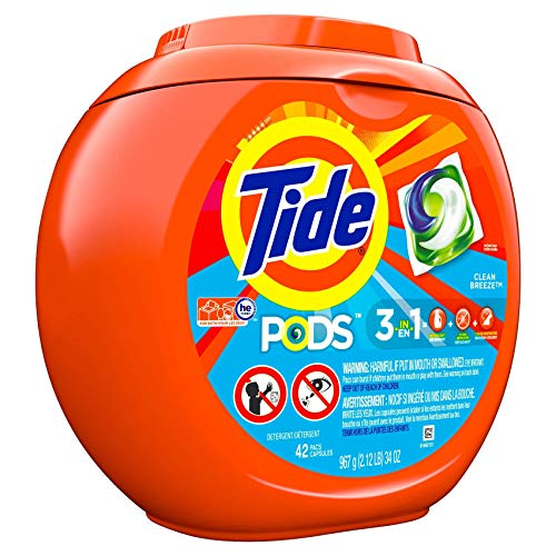 Tide PODS Clean Breeze wasmiddel packs - 42 Pods