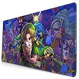 Wtbew-u The Legend of Zelda - Alfombrilla para ratón para videojuegos, resistente al agua, con superficie lisa, base de 800 x 300 x 3 mm