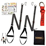 NOSSK Twin PRO Bodyweight Fitness Strap Trainer (Gray)