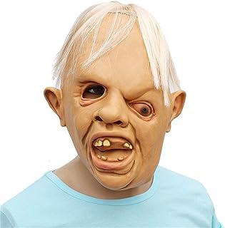 ZJMIYJ Halloweenmask, halloween full huvudmask latex skrämmande tandy en öga person mask skräck maskerad fest mask cosplay...