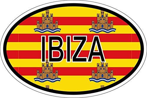 Akachafactory stickers, ovaal, vlag van de Lanei-Ibiza