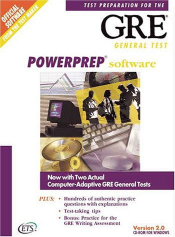 Compare Textbook Prices for Powerprep Software: Test Preparation for the Gre General Test, Version 2.0 Cdr Edition ISBN 9780886851873 by Educational Testing Service