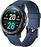 Reloj inteligente, rastreador de fitness con monitor de sueño, contador de pasos de deportes de moda al aire libre, pulsera deportiva Bluetooth azul