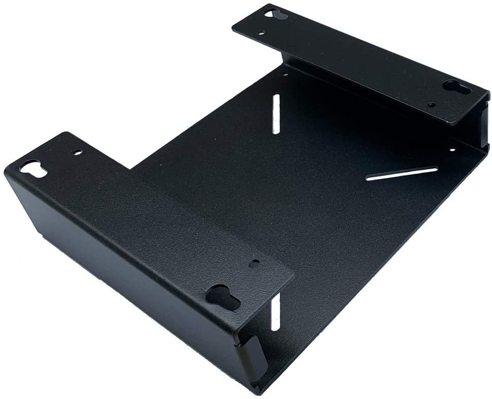 Diversity world Multifunctional-Quick Replacement Mini PC VESA mounting Stand (A, Black)