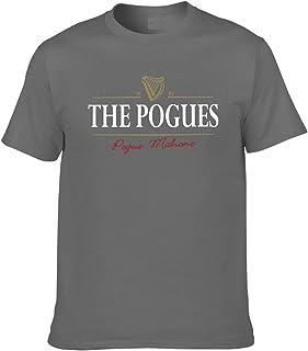 Tシャツ メンズ 半袖 The-Pogues プリント おしゃれ ブラック