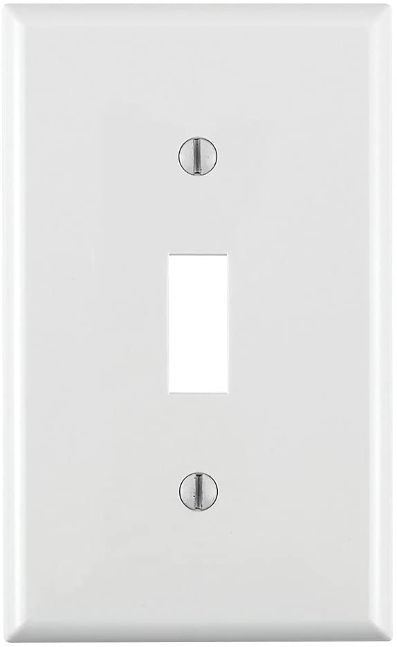 Leviton 80701 W 1 Gang Toggle Device Switch Wallplate Standard Size Thermoplastic Nylon Device Mount White Switch Plates Amazon Com