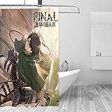Attack On Titan Anime Duschvorhang Badezimmer Schön dekorierter Wasserdichter Duschvorhang 180x180cm