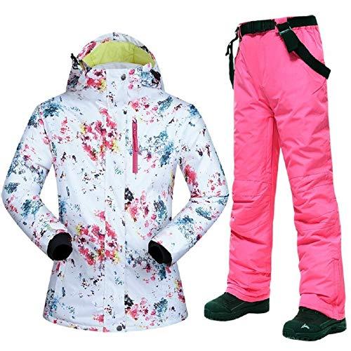 Outdoor-Kleidung Skianzüge Neue Ski-Anzüge Frauen-Winter-Schnee-Anzug Weiblicher Ski und Snowboard-Bekleidung windundurchlässige wasserdichte Outdoor Sport Jacken und Hosen Overalls Winter Outdoor Sch