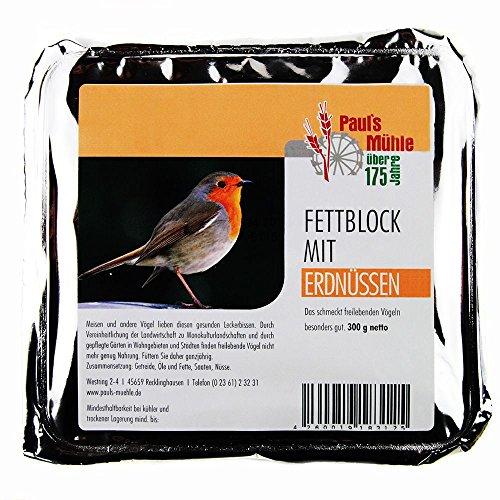 Paul´s Mühle Fettblock mit Erdnüssen (Vogelbuffet) 12 x 300 g