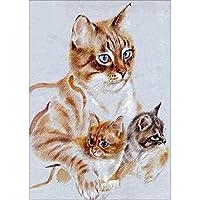 ダイヤモンド絵画5D DIYダイヤモンド絵画カラフルなリスの漫画の動物猫モザイク刺繍動物3Dクロスステッチ刺繍工芸品の装飾