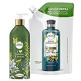 Herbal Essences - Repara kit básico de champú rellenable, botella rellenable y bolsa de recarga, aceite de argán de marruecos, 1 kit