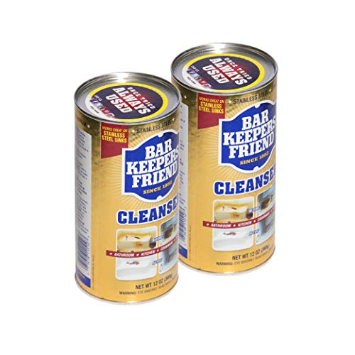 Bar Keepers Friend Powder Cleanser (12 oz) - Multipurpose Cleaner & Stain Remover - Bathroom, Kitchen & Outdoor Use - for Stainless Steel, Aluminum, Brass, Ceramic, Porcelain, Bronze and More (2)